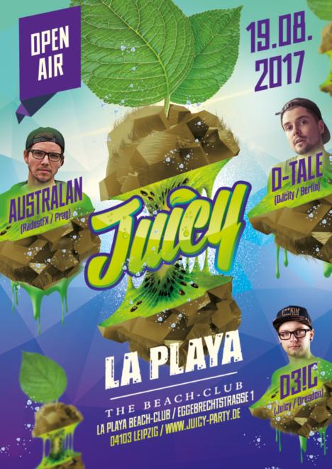 Flyer JUICY Leipzig