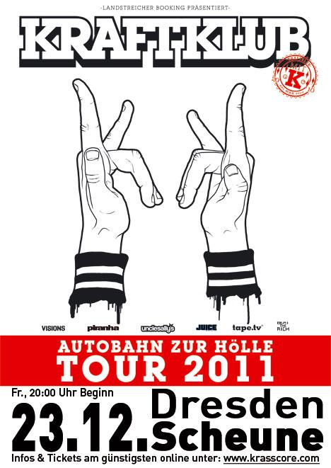 Flyer KRAFTKLUB ***Ausverkauft!***  –> ZUSATZ-SHOW AM 14.04.2012 !!!