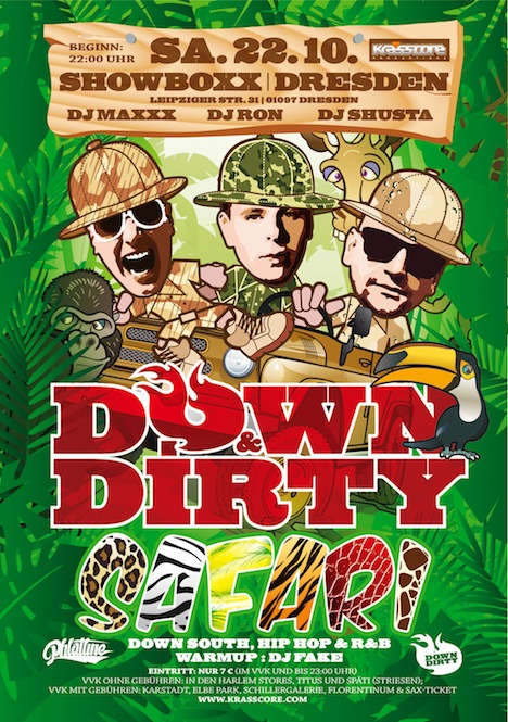 Flyer DOWN & DIRTY SAFARI