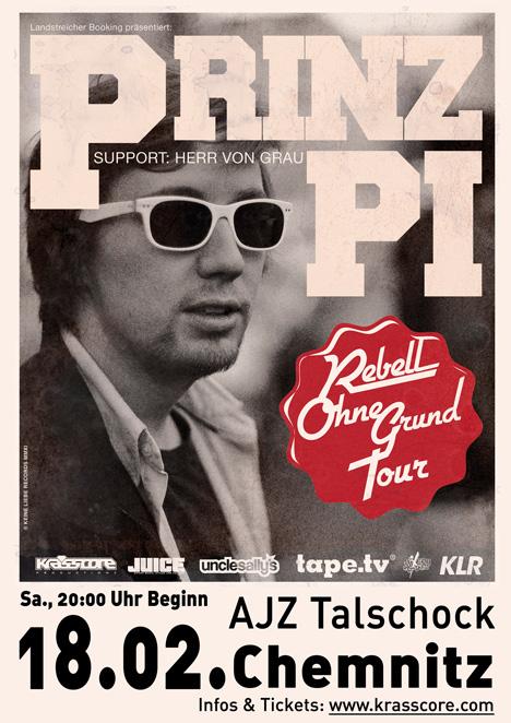 Flyer PRINZ PI  | support: Herr von Grau