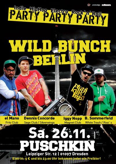 Flyer WILD BUNCH BERLIN