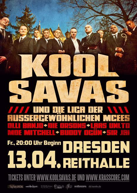 """Flyer KOOL SAVAS """"und die Liga … MCees"""""""