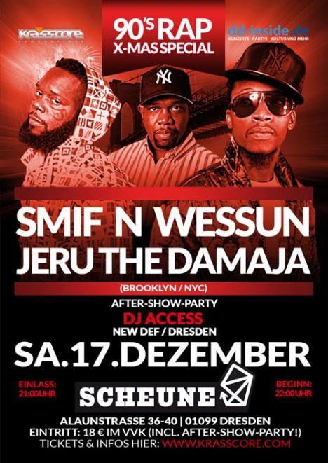 Flyer SMIF N WESSUN & JERU THE DAMAJA
