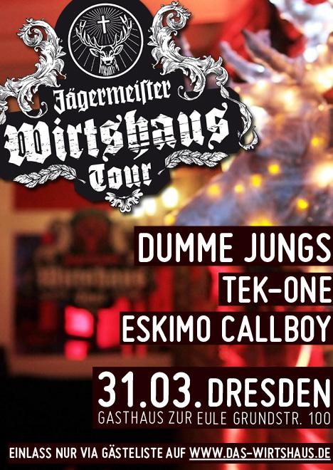 Flyer JÄGERMEISTER WIRTSHAUS TOUR