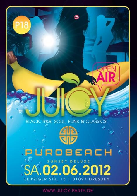Flyer JUICY *OPEN AIR*