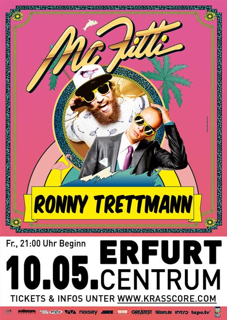 Flyer MC FITTI & RONNY TRETTMANN