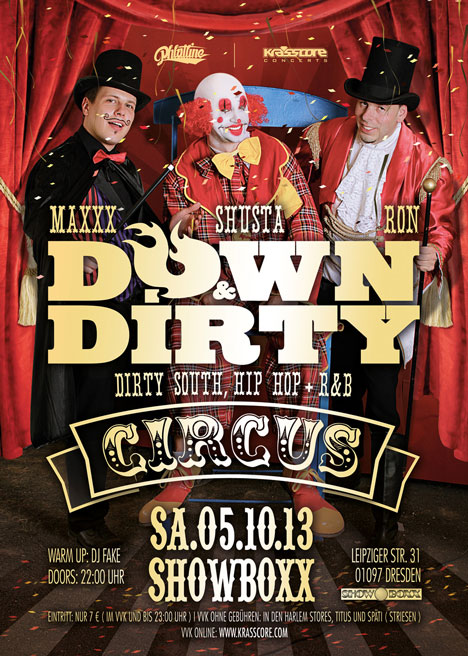 Flyer DOWN & DIRTY – CIRCUS