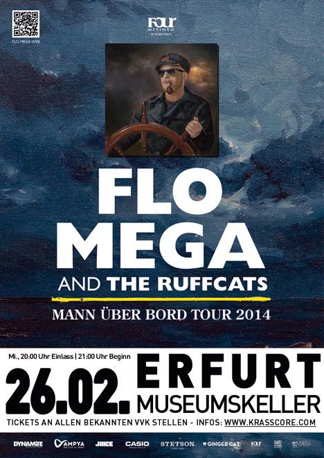 Flyer FLO MEGA & The Ruffcats