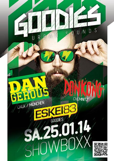 Flyer GOODIES feat. DAN GEROUS, DONKONG & ESKEI83