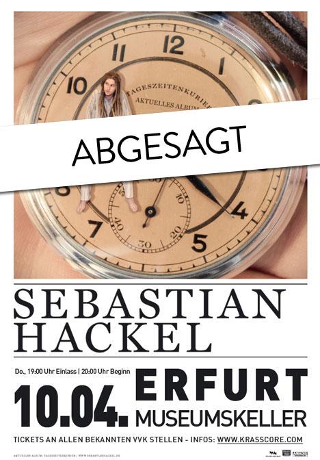 Flyer *Abgesagt* SEBASTIAN HACKEL & Band