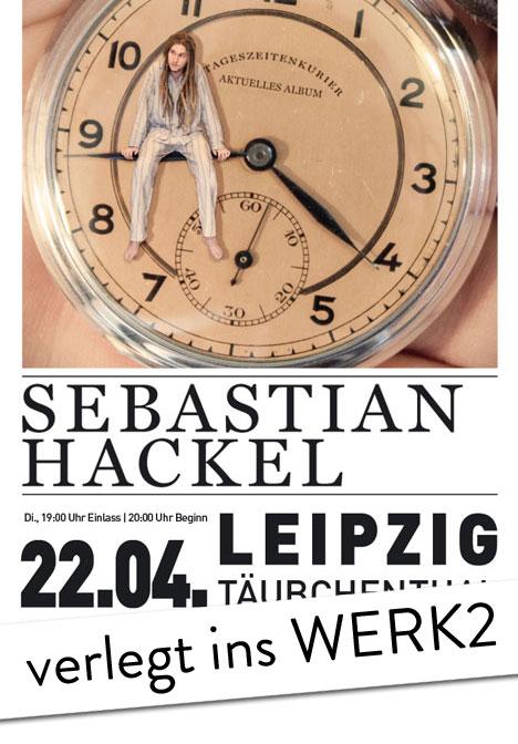 Flyer Verlegt: SEBASTIAN HACKEL & Band