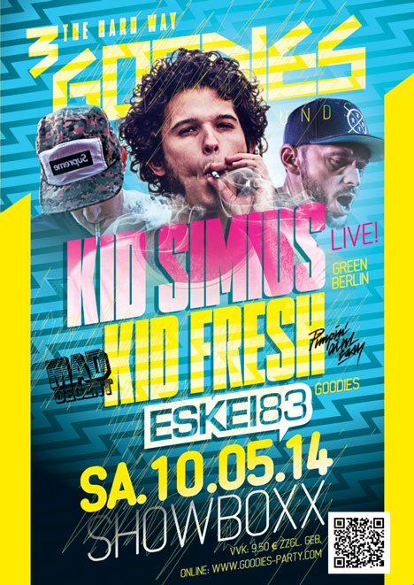 Flyer GOODIES feat. KID SIMIUS & KID FRESH