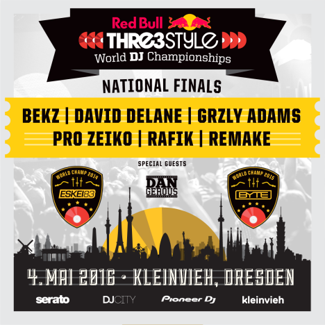 Flyer Red Bull Thre3style – German National Finals