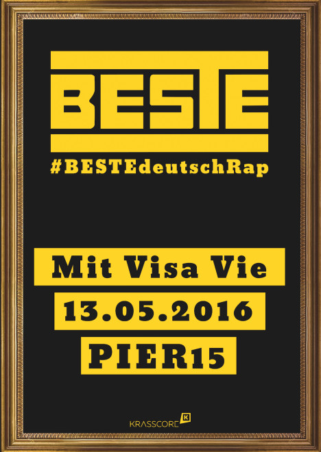 Flyer BESTEdeutschRap Dresden #1 w/ VisaVie