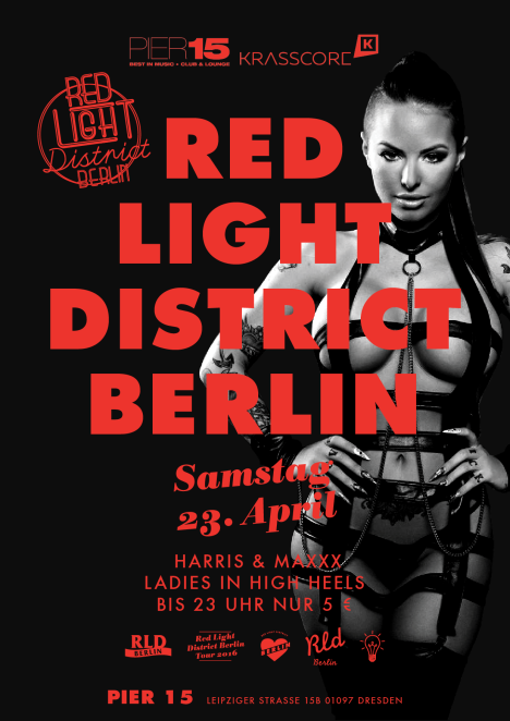 Flyer RED LIGHT DISTRICT BERLIN