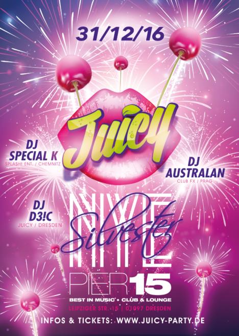 "Flyer JUICY ""New Years Eve"""