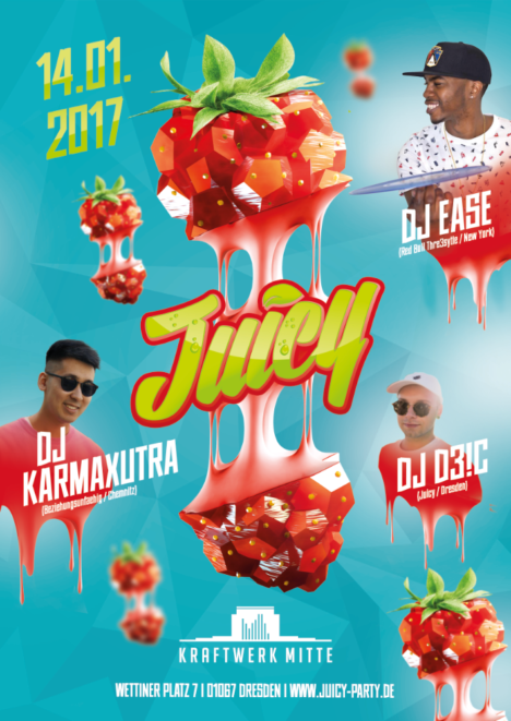 "Flyer JUICY ""Welcome 2017"""