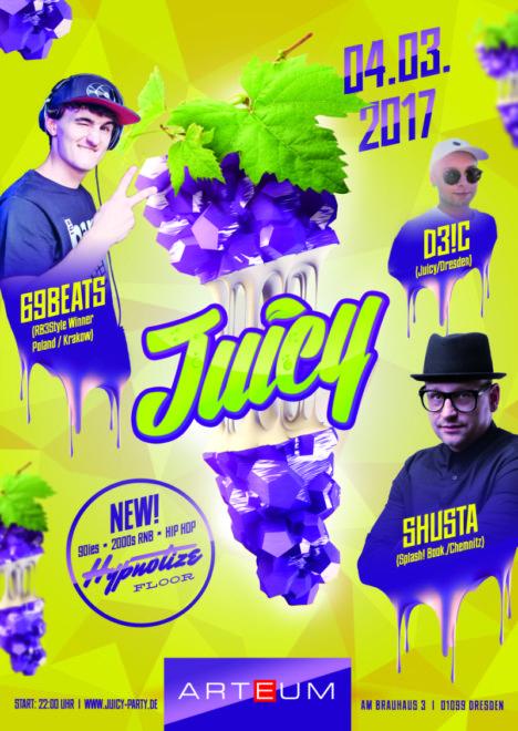 Flyer JUICY Dresden