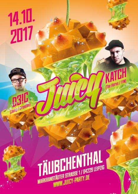 Flyer JUICY Leipzig