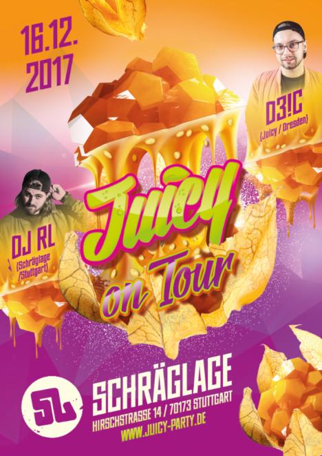 Flyer JUICY on Tour – Stuttgart