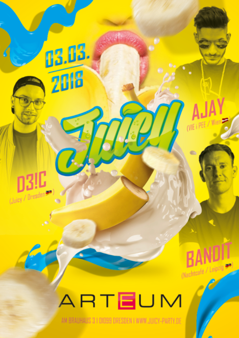 Flyer JUICY Dresden