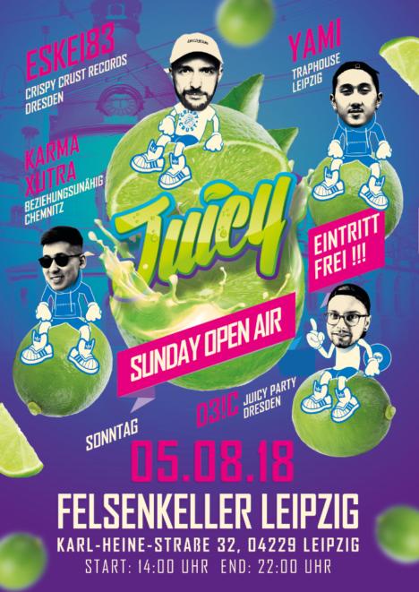 Flyer JUICY SUNDAY OPEN AIR – Leipzig