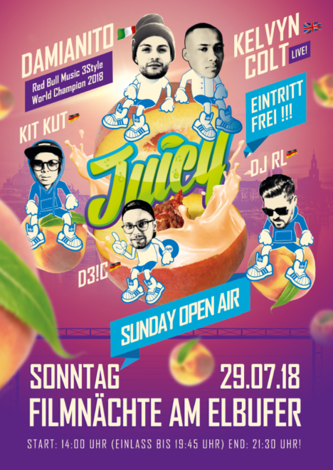 Flyer JUICY SUNDAY OPEN AIR – Dresden