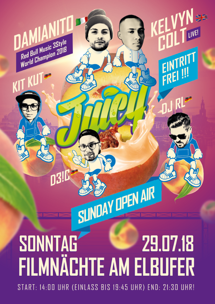 Flyer JUICY SUNDAY OPEN AIR - Dresden