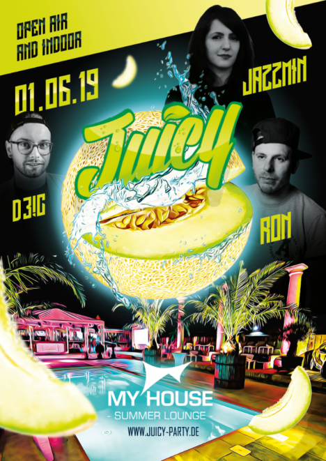 "Flyer JUICY PARTY ""Summer Opening 2.0"""