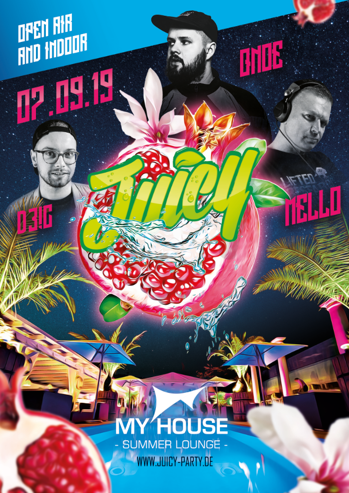 Flyer JUICY PARTY • My House