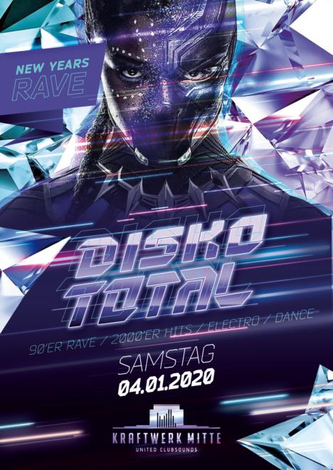 Flyer DISKO TOTAL • Kraftwerk Mitte