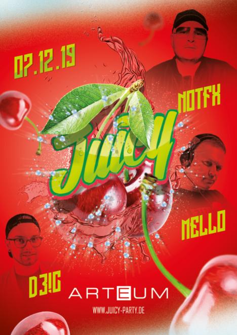 Flyer JUICY PARTY • Arteum