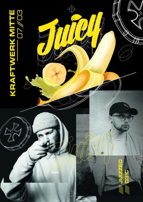 Flyer JUICY PARTY • Kraftwerk Mitte