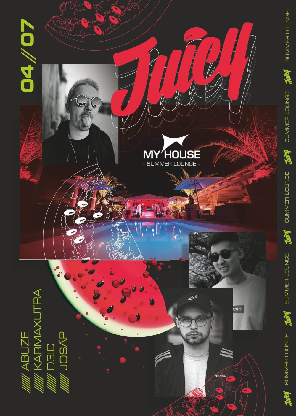 Flyer JUICY PARTY • Summer Lounge